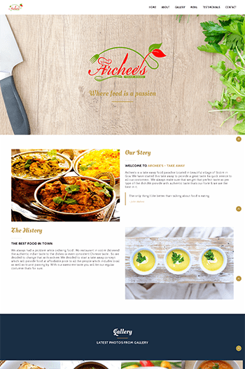 Website making for take away, Website designing in Panjim